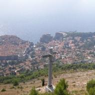 Вид на Дубровник со смотровой площадки фуникулёра
