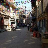 Улица, украшенная к фестивалю
